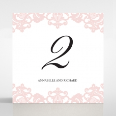 Baroque Pocket wedding venue table number card stationery design
