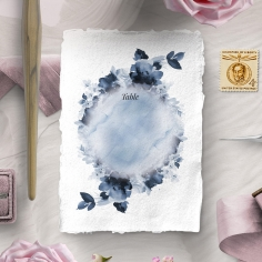 Dusty Watercolour wedding reception table number card design
