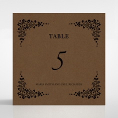 Enchanted Crest wedding table number card stationery item