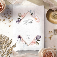 Enchanting Florals wedding table number card stationery design