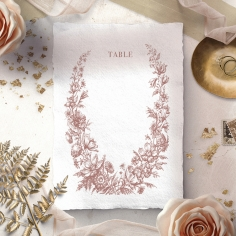 Fragrant Romance wedding venue table number card stationery item