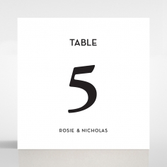 Frosted Chic Charm Acrylic wedding reception table number card stationery item