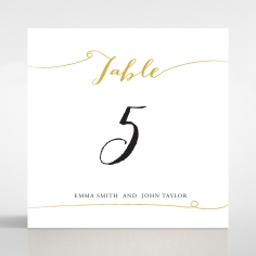 Infinity wedding venue table number card design