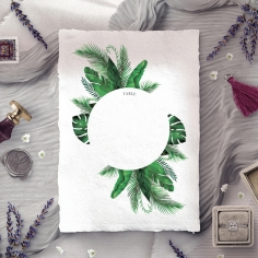 Palm Leaves table number card