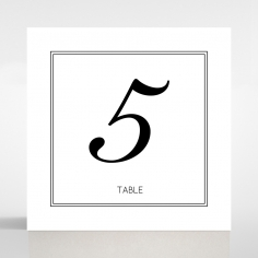 Paper Art Deco table number card design