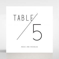 Paper Infinity wedding table number card design