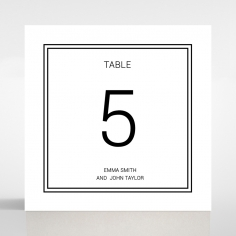 Paper Timeless Romance wedding table number card stationery