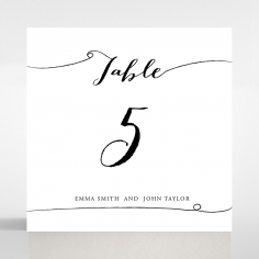 Paper Timeless Simplicity table number card stationery item