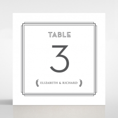 Playful Love table number card design