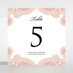 Regal Charm Letterpress wedding reception table number card