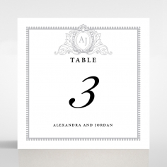 Royal Lace wedding stationery table number card