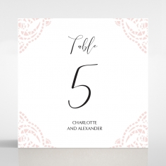 Rustic Elegance wedding reception table number card stationery design