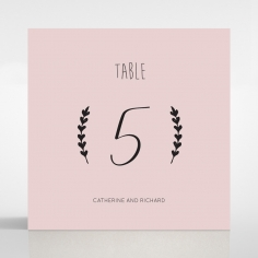 Sweet Romance wedding reception table number card design