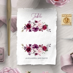 Their Fairy Tale wedding stationery table number card item