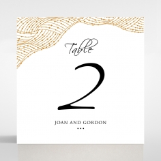 Woven Love Letterpress wedding reception table number card design