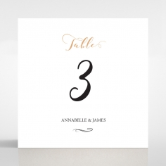 Written In The Stars wedding venue table number card stationery design