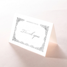Black on Black Victorian Luxe with foil thank you stationery card design