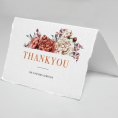 Blossoming Love thank you wedding stationery card design