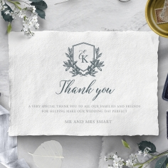 Castle Wedding thank you card
