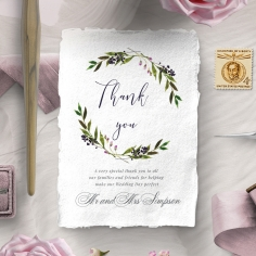 Country Charm thank you stationery card item