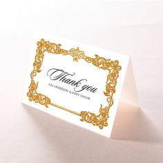 Divine Damask with Foil thank you stationery card