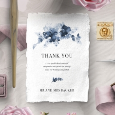 Dusty Watercolour wedding thank you stationery card