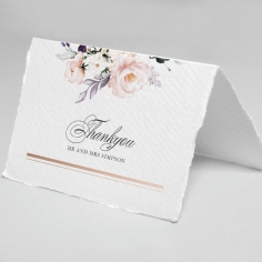 Enchanting Florals thank you wedding stationery card