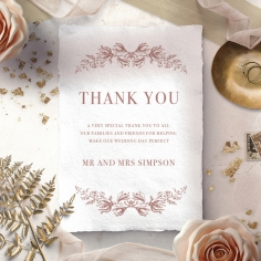Fragrant Romance wedding thank you card design