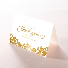 Golden Baroque Pocket with Foil thank you card