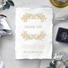 Heritage of Love thank you invitation card