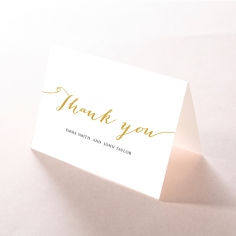 Infinity wedding thank you stationery card design