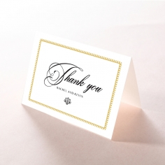 Ivory Doily Elegance wedding thank you stationery card item