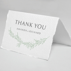Minimalist Wreath thank you wedding card