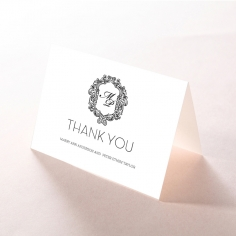 Paper Aristocrat wedding thank you stationery card