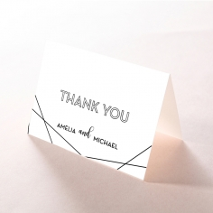 Paper Art Deco thank you wedding stationery card