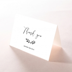 Paper Chic Rustic thank you wedding stationery card design