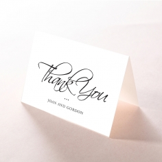 Paper Diamond Drapery wedding thank you card design