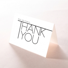 Paper Minimalist Love thank you stationery card design