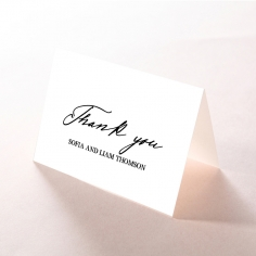 Paper Modern Romance thank you wedding card design