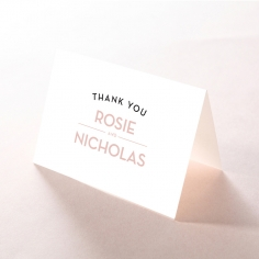Pink Chic Charm Paper wedding stationery thank you card design