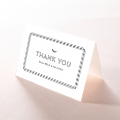Playful Love thank you wedding card
