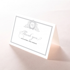 Royal Lace wedding stationery thank you card