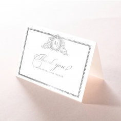 Royal Lace with Foil wedding thank you stationery card item