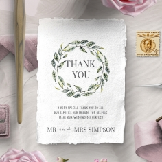 Rustic Affair thank you stationery card design