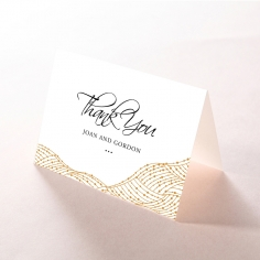 Woven Love Letterpress wedding thank you stationery card