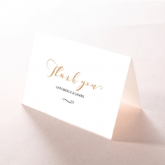 Written In The Stars wedding stationery thank you card