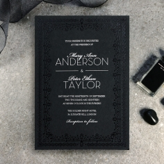Black on Black Victorian Luxe Invite
