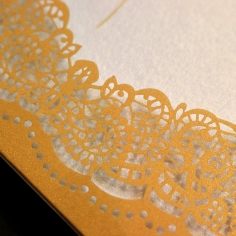 Charming Lace Frame Invitation Card