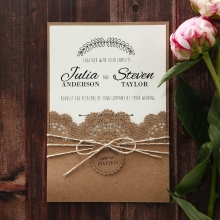 Formal wedding invitation wording announcement templates country lace pocket stopboris Images