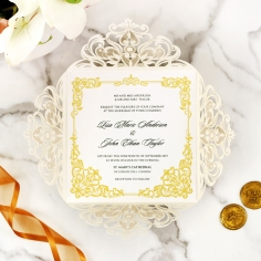 Divine Damask Invite Card